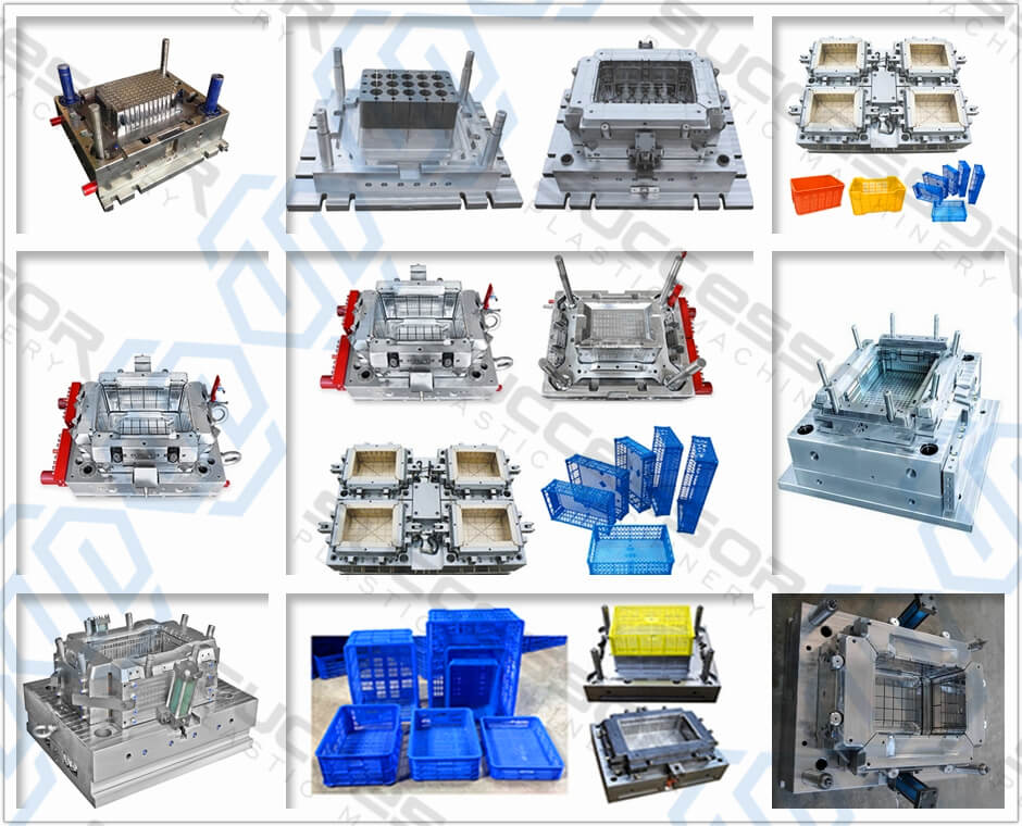 Plastic Fruit Vegetable Basket / Turnover Box/ Container/ Crate Injection Molding Machine