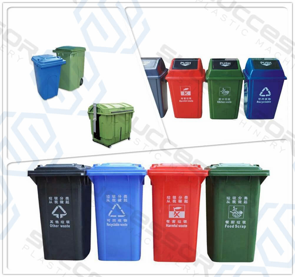Plastic Outdoors Dustbin Making Injection Molding Machine