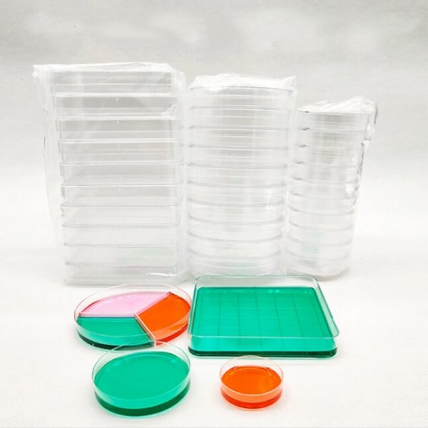Disposable sterilized plastic petri dish