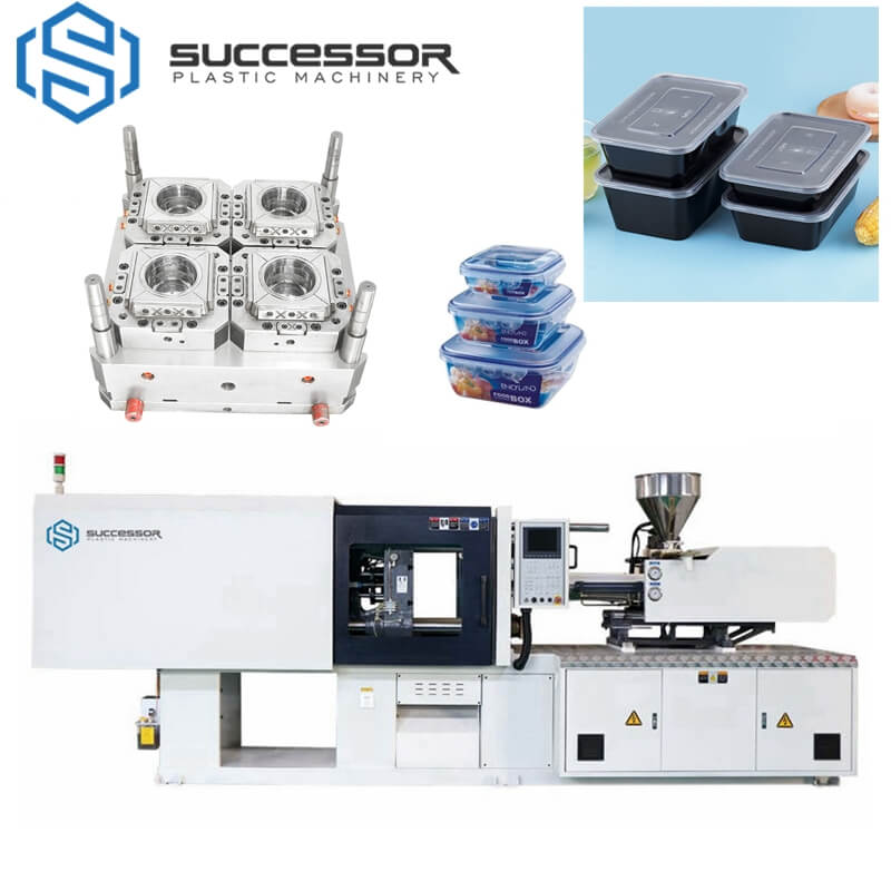 Plastic Luchbox Snack Box Fastfood Box takeout box Injection Molding Machine