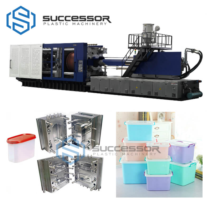 Plastic Storage Collection Box Container Injection Molding Machine