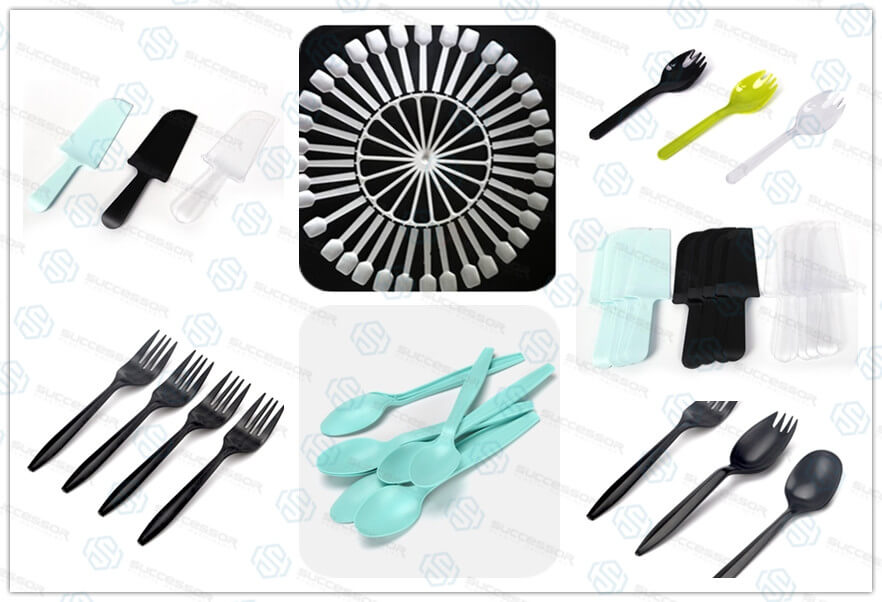 Plastic Disposable Fork Knife Spoon Making Injection Molding Machine